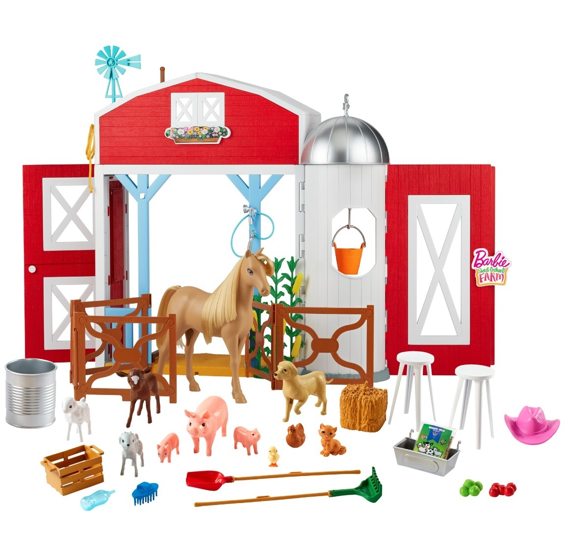 The Barbie farm playset with tons of animals and other accessories