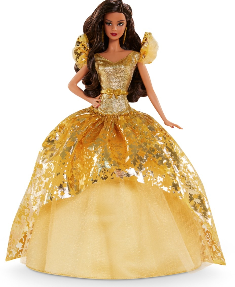 The signature 2020 barbie in a gold gown