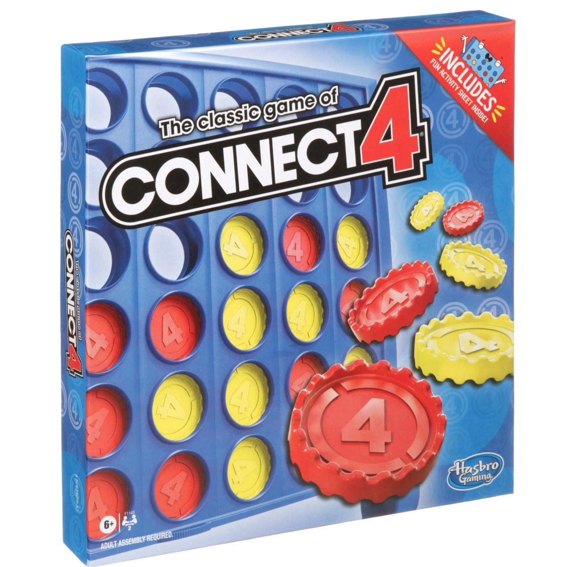 The game of Connect 4 in its original box