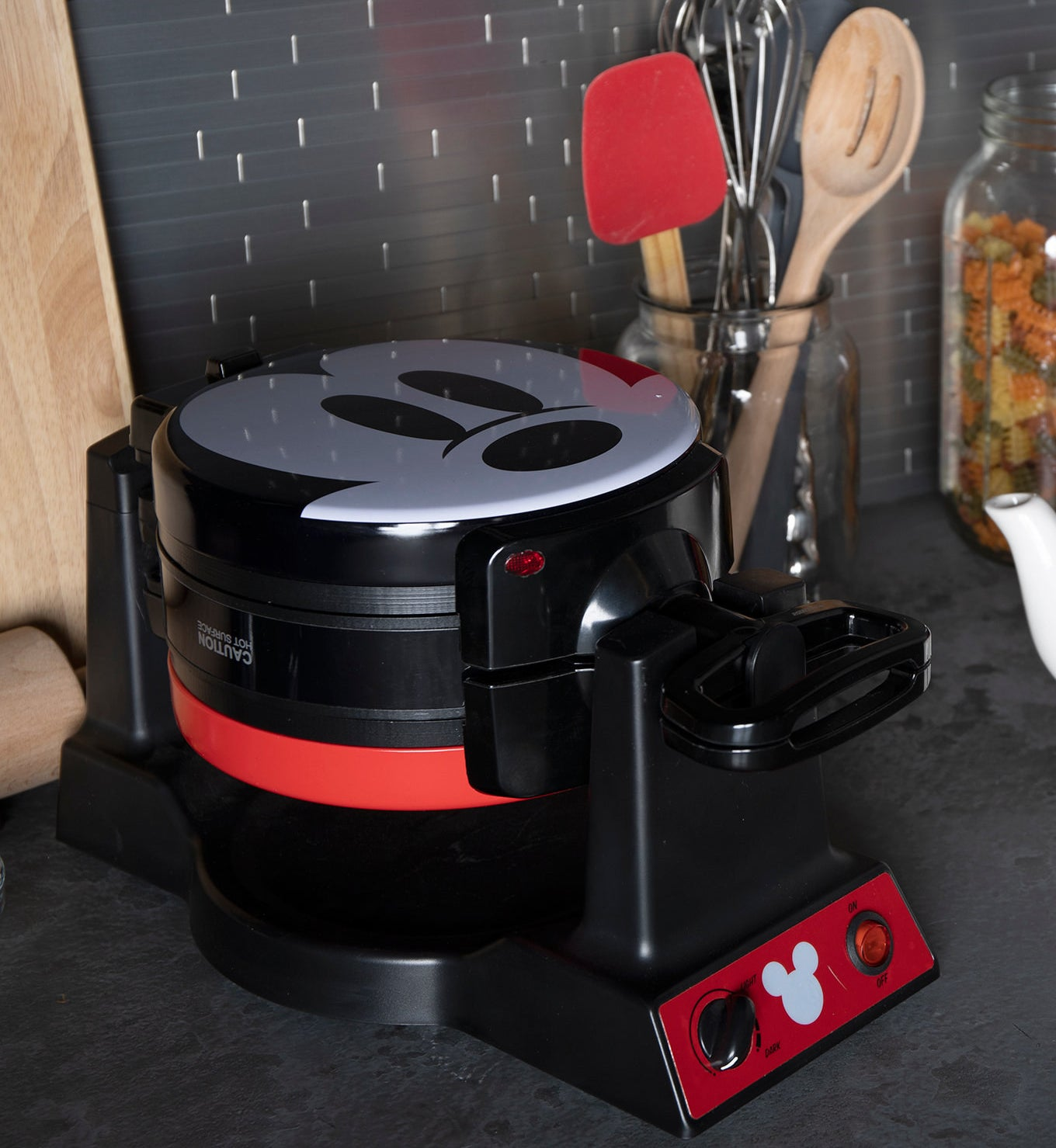 the Mickey Mouse waffle maker