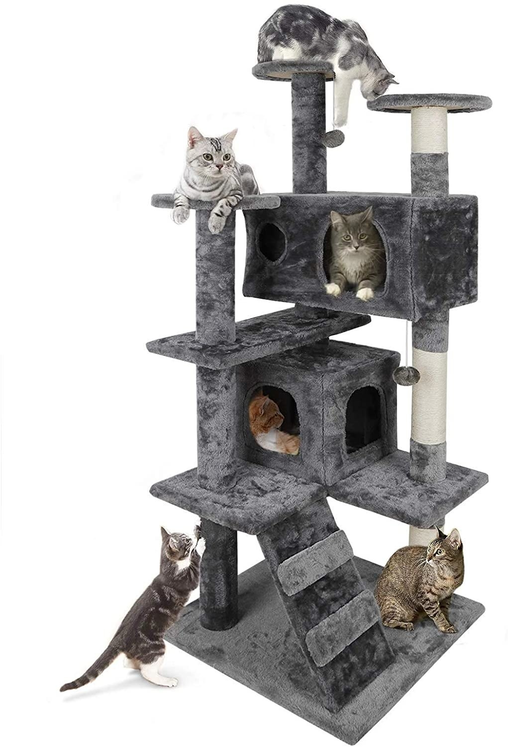 The gray cat tower