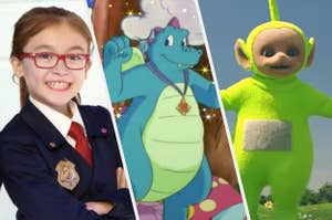 Agent Olympia from the Odd Squad, Ord from Dragon Tales, and Dipsy