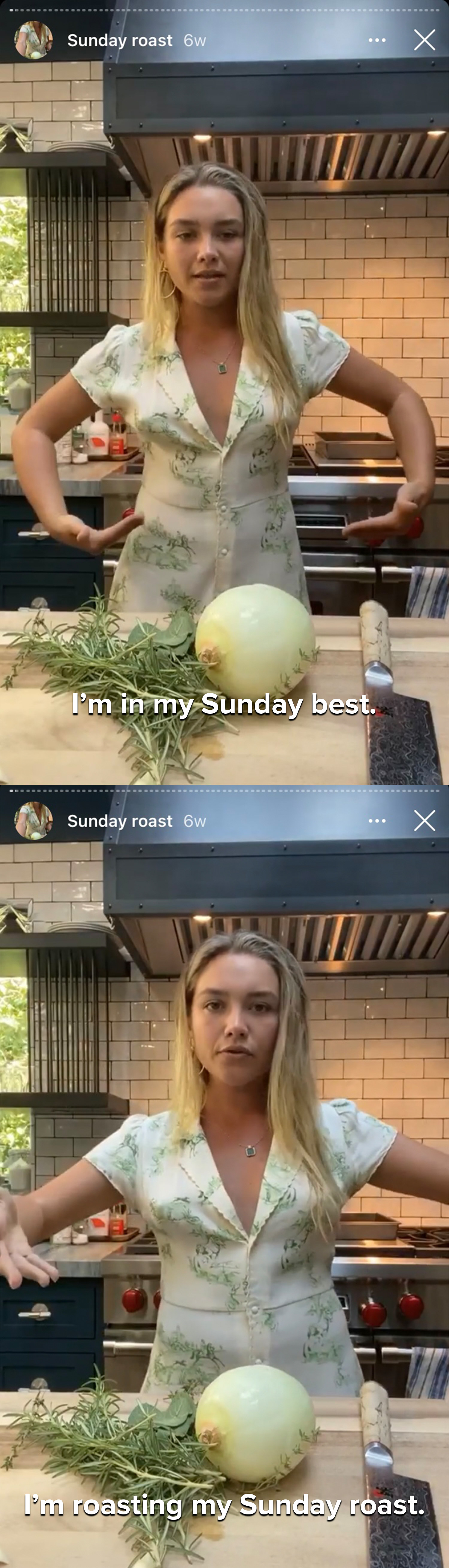 Flo says she's in her Sunday best roasting her Sunday roast