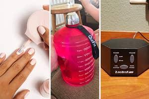 指甲油罂粟,时间戳的水瓶和白色噪音机