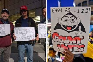川普的支持者和拜登的支持者