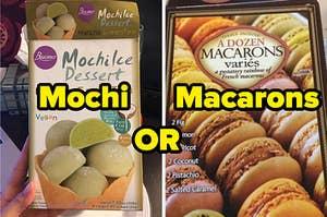 抹茶、绿茶麻糬或马卡龙