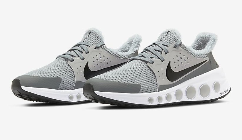 Gray and black Nike CruzrOne unisex running shoes