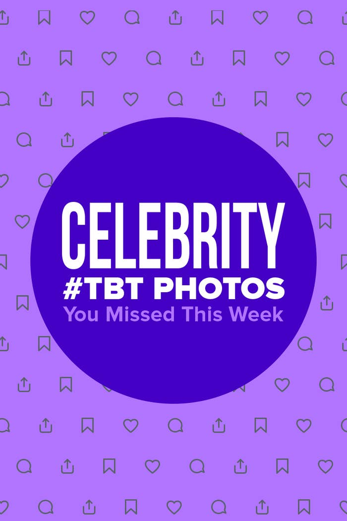Graphic that says 'Celebrity #TBT Photos You Missed This Week'