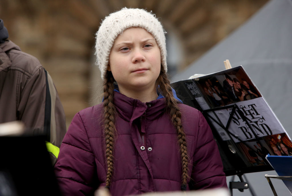 Greta Thunberg at a climate change protest