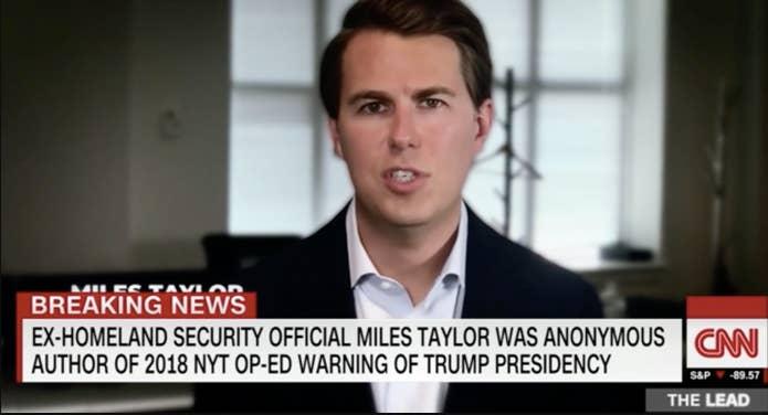 A photo on Miles Taylor on CNN