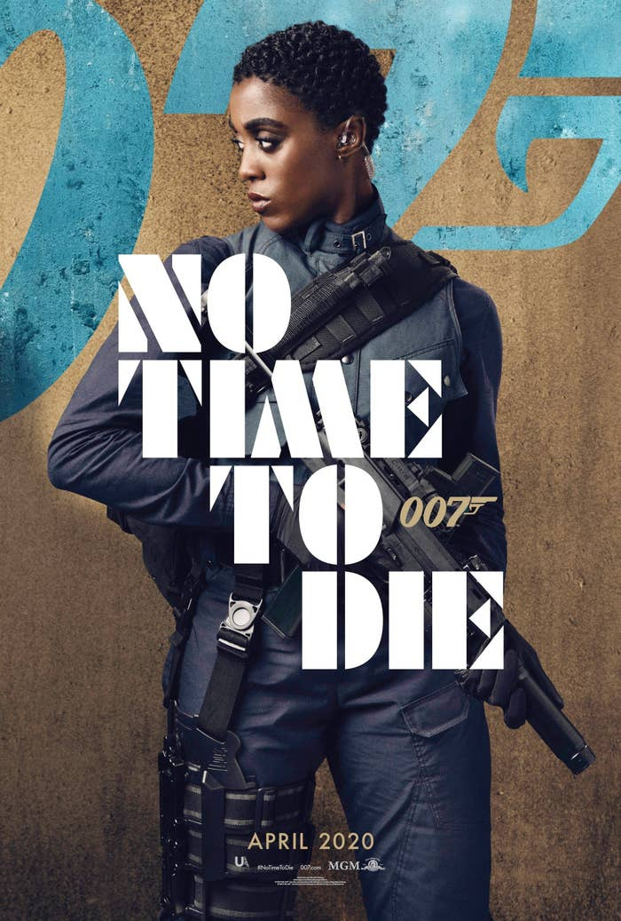 No Time to Die, US character poster, Lashana Lynch as Nomi.