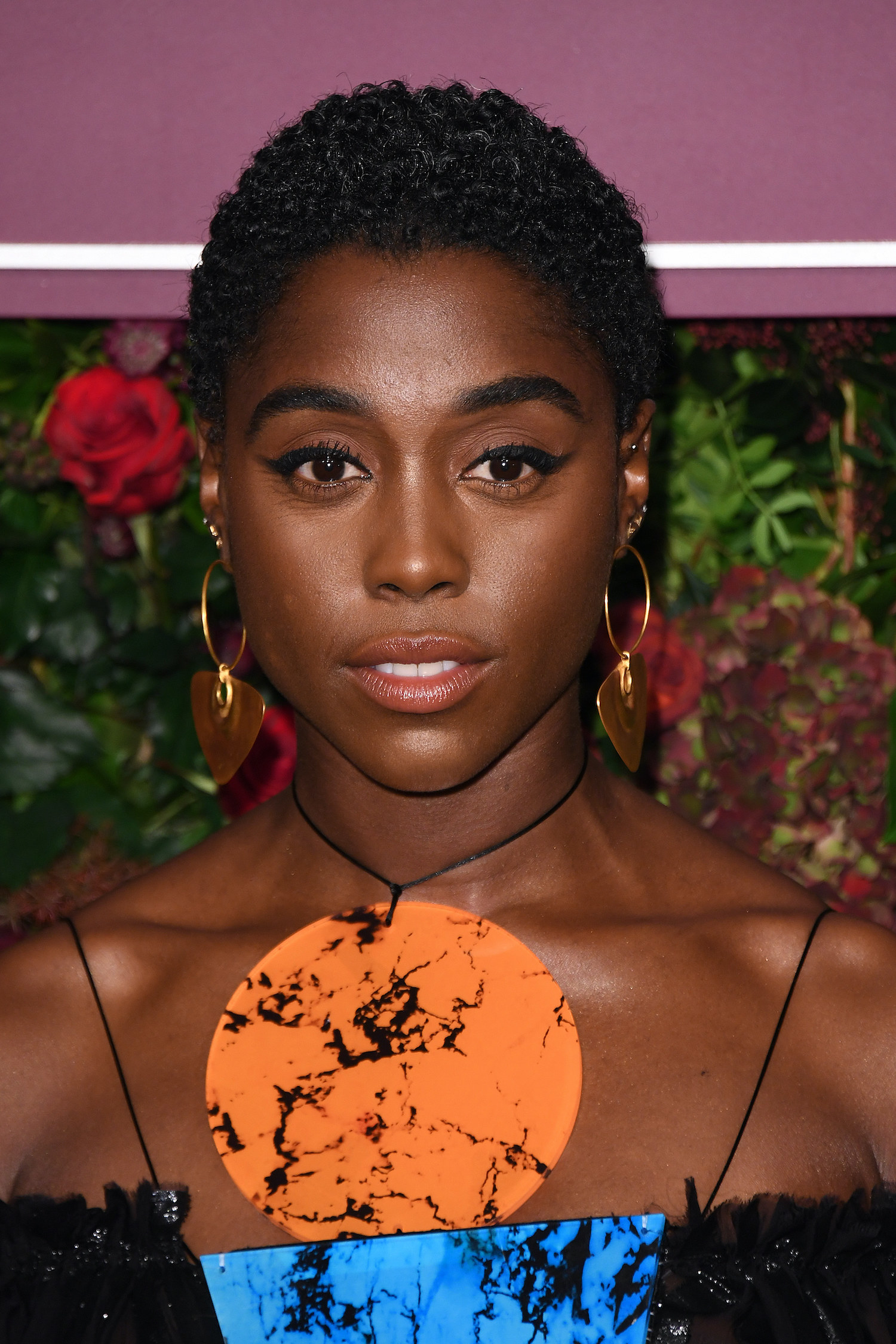 Lashana Lynch attends the 65th Evening Standard Theatre Awards at London Coliseum on November 24, 2019 in London, England.