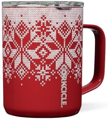 The red fair isle mug
