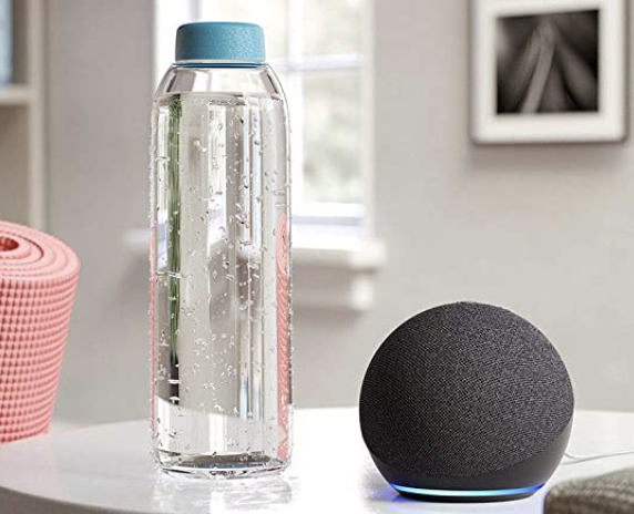 Photo of Echo Dot on counter