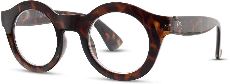 The thick framed tortoiseshell glasses