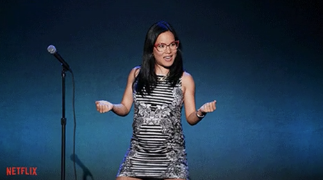 """Ali Wong in her """"Baby Cobra"""" stand-up special"""