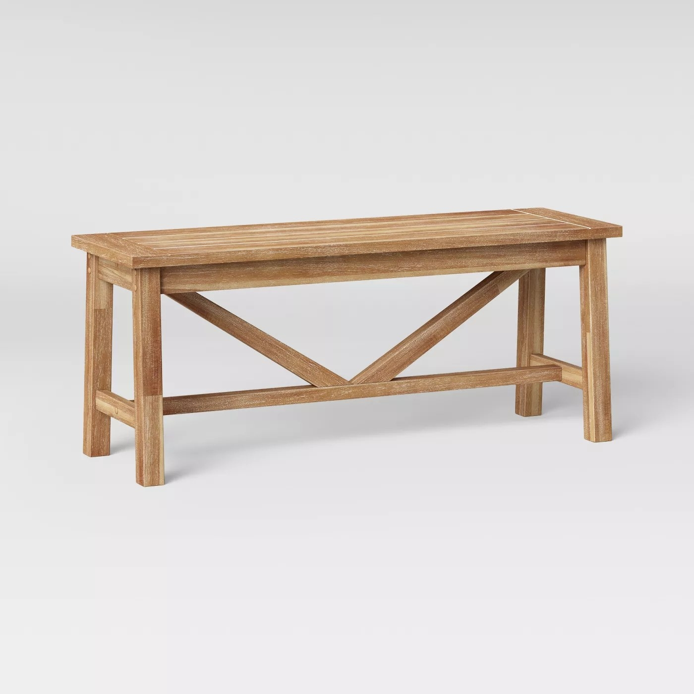 The light wood dining bench