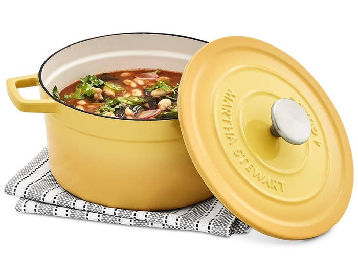 The Dutch oven in yellow