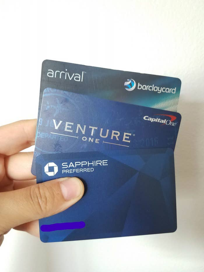 My personal top 3 credit cards: Barclay, Capital One, and Chase Sapphire
