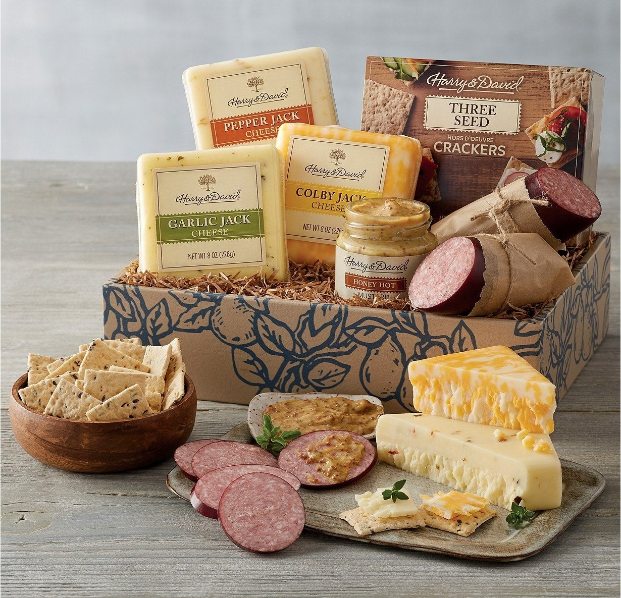 The seven-piece meat and cheese set