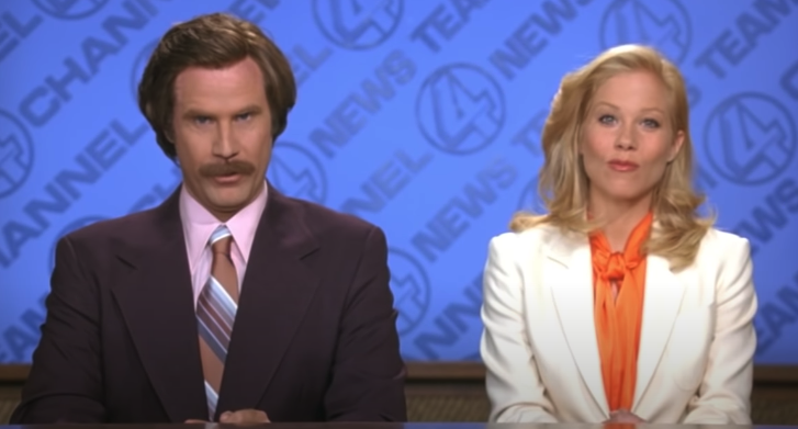 """Ron and Veronica from """"Anchorman"""""""