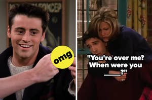 Joey, Ross, and Rachel from