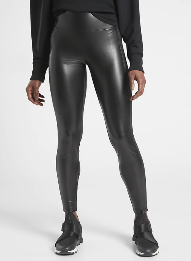 Model wears Delancey Gleam Tight in black