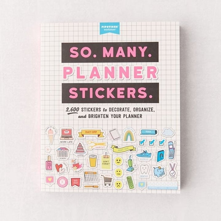 """cover of """"So. Many. Planner Stickers."""" book"""