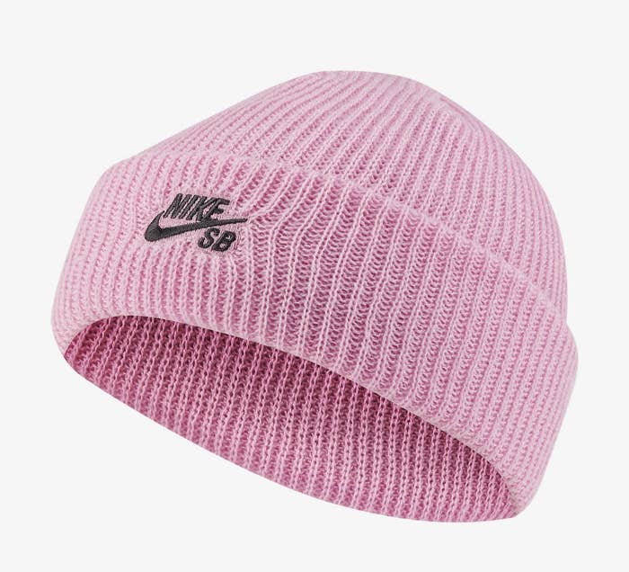Pink Nike beanie
