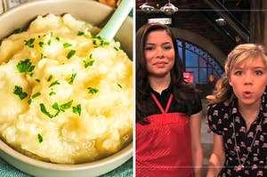 Mashed potatoes and carly and sam from icarly