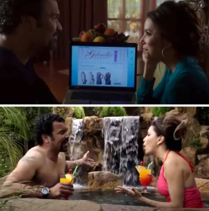 "Gabrielle and Carlos in the ""Desperate Housewives"" series finale in their new California home"