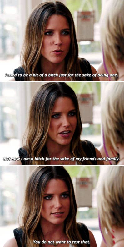 """Brooke describing how she used to be a """"bitch"""" just 'cause, but now she's a """"bitch"""" to stand up for her family and friends"""