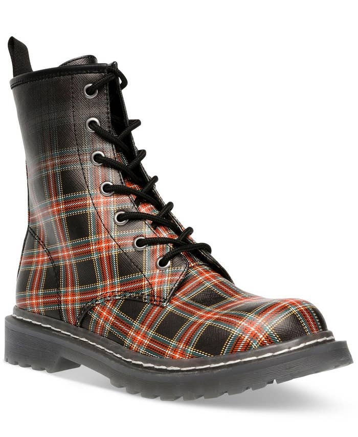 The boots in black plaid