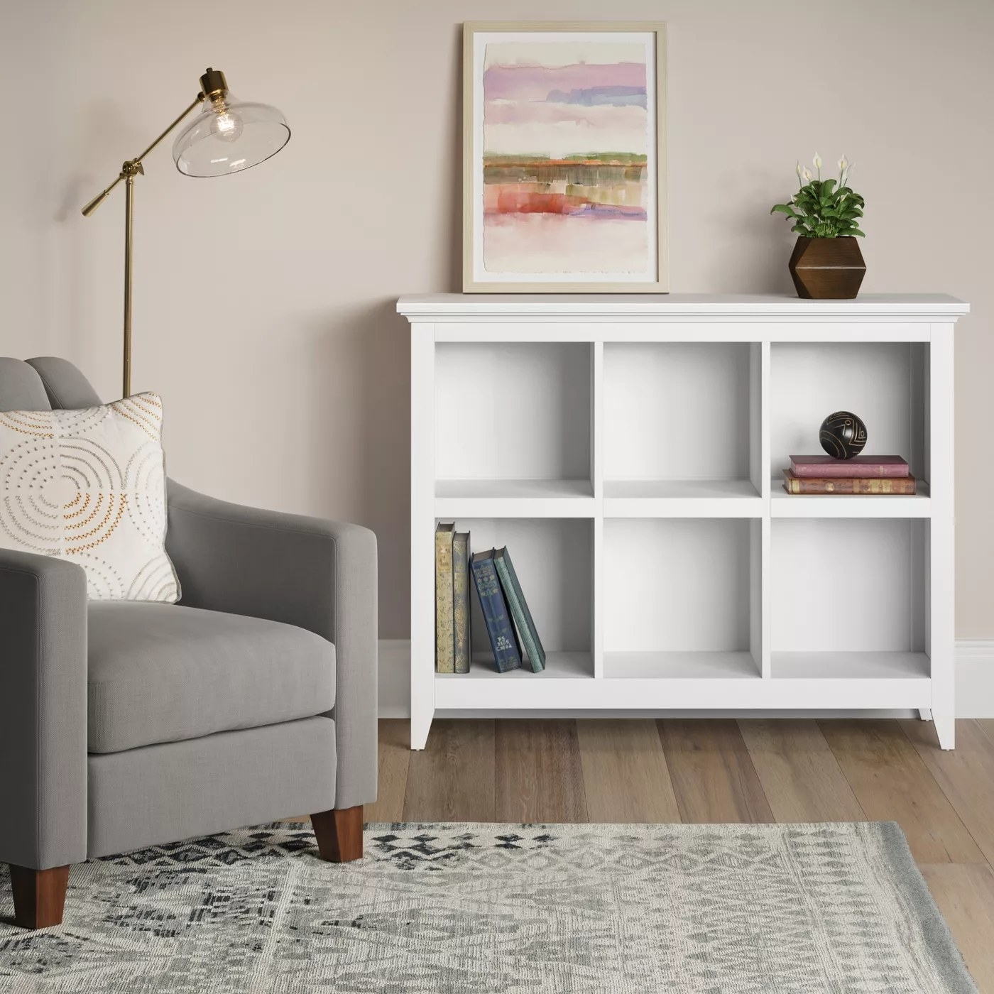 The white bookcase