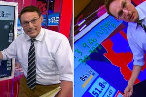 Steve Kornacki side by side pics with his map
