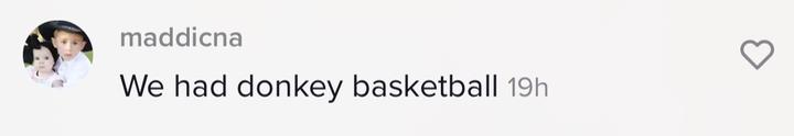"""We had donkey basketball"""