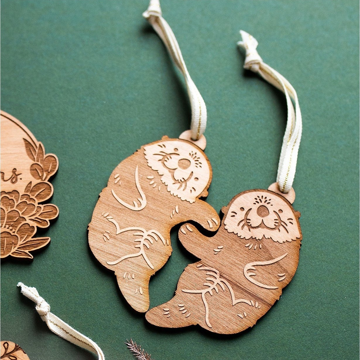 The otter ornaments