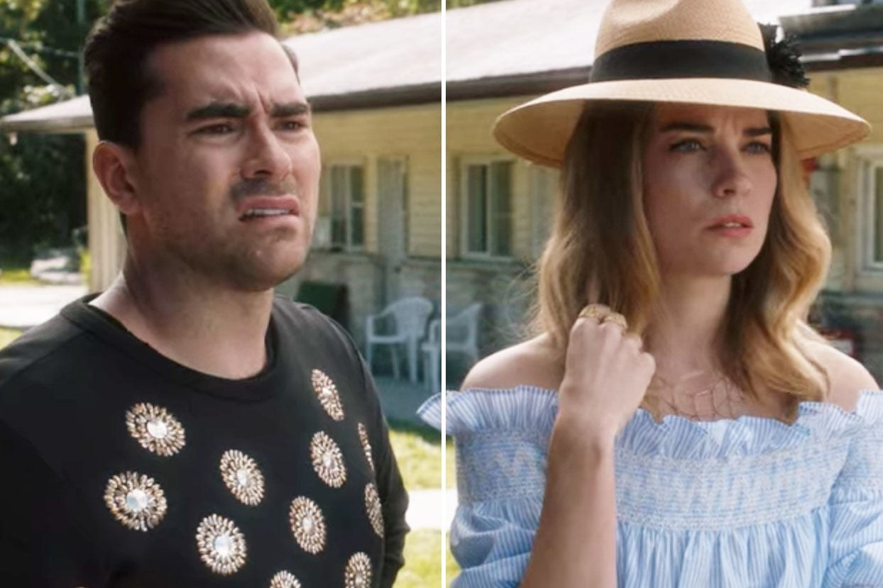 "Alexis and David from ""Schitt's Creek"""