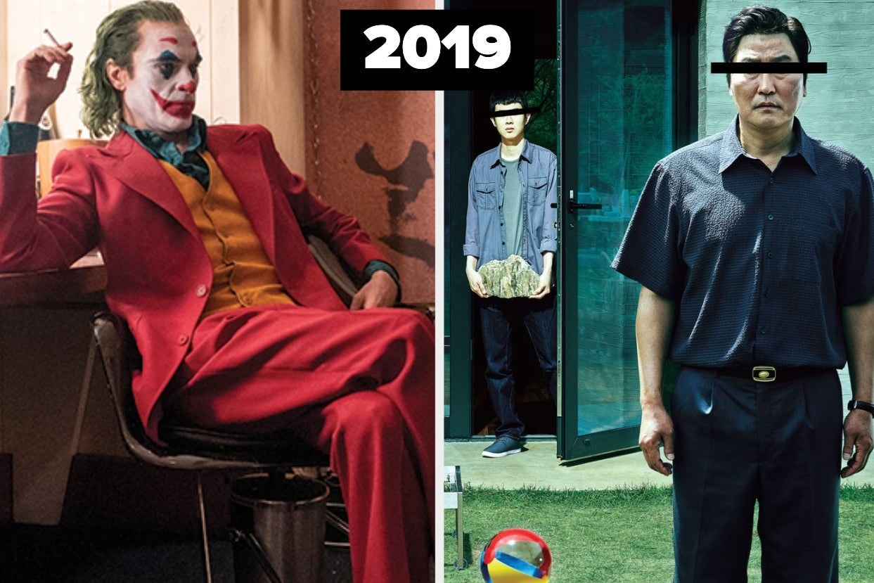 The joker and parasite posters with 2019 label