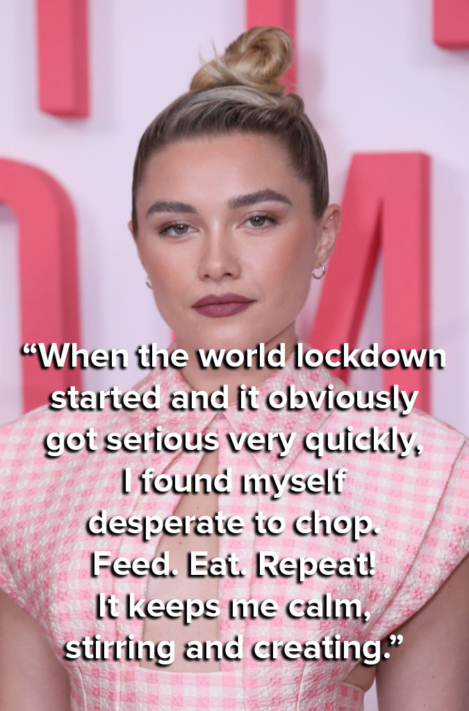 """""""When the world lockdown started and it obviously got serious very quickly, I found myself desperate to chop. Feed. Eat. Repeat! It keeps me calm, stirring and creating."""""""