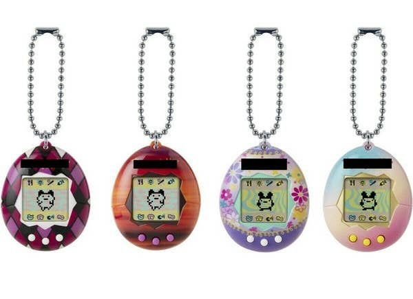 A set of Tamagotchi toys