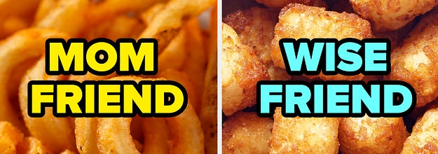 Curly fries on the left with