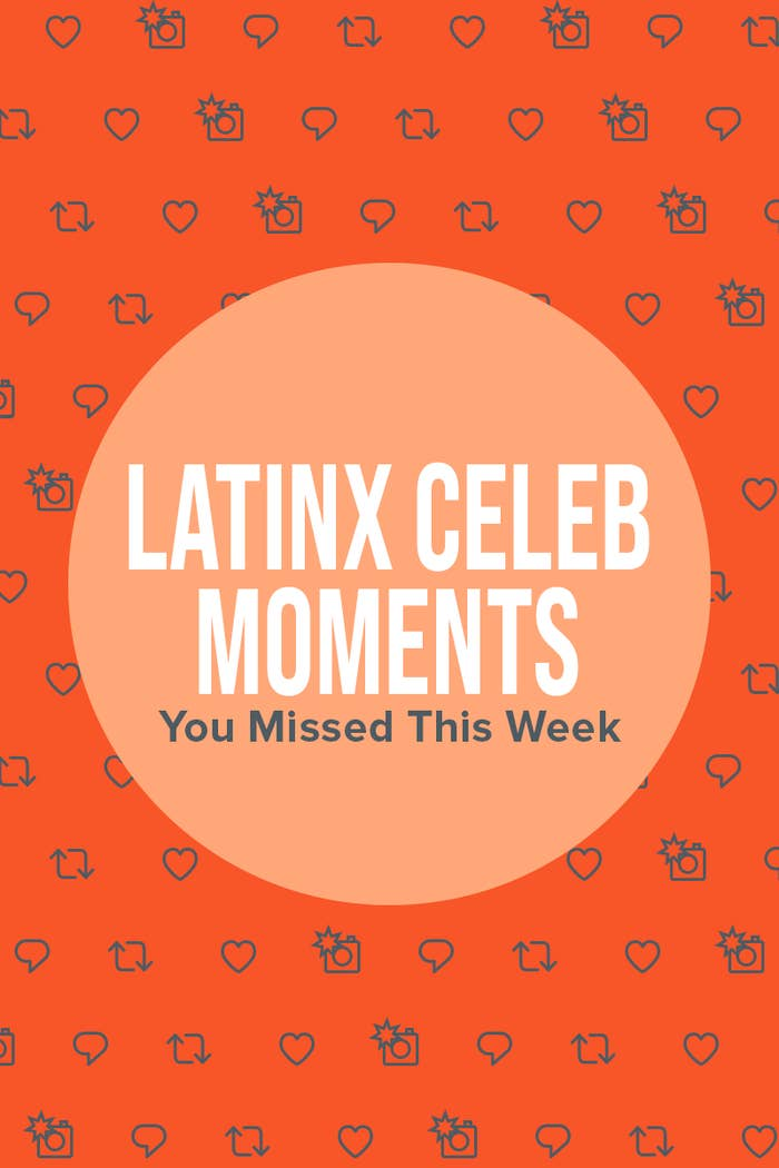 Graphic that says 'Latinx Celeb Moments You Missed This Week'