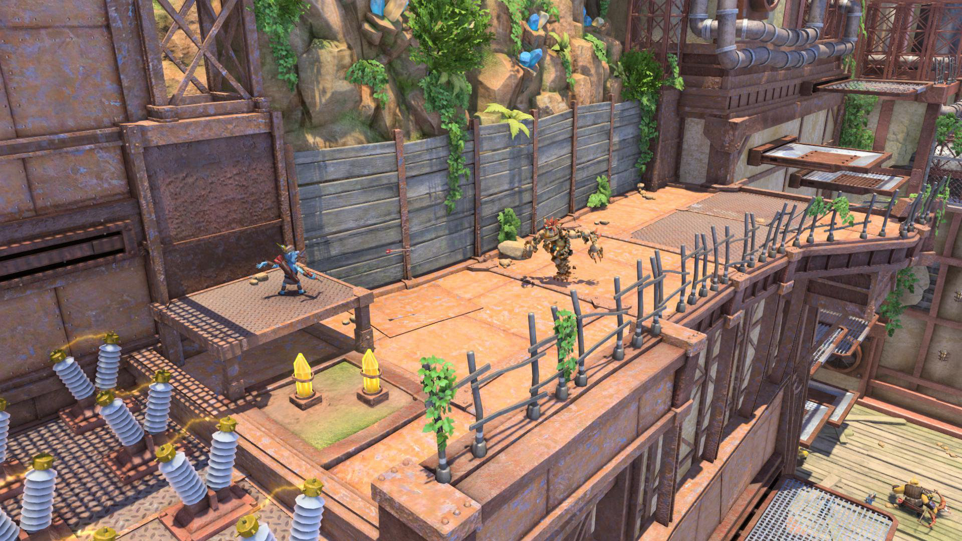 A screenshot from the video game Knack that looks cartoonish and outdated
