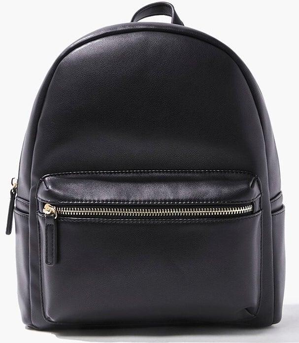 Photo of a mini black backpack