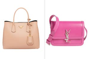A Prada top-handle bag and a YSL crossbody bag