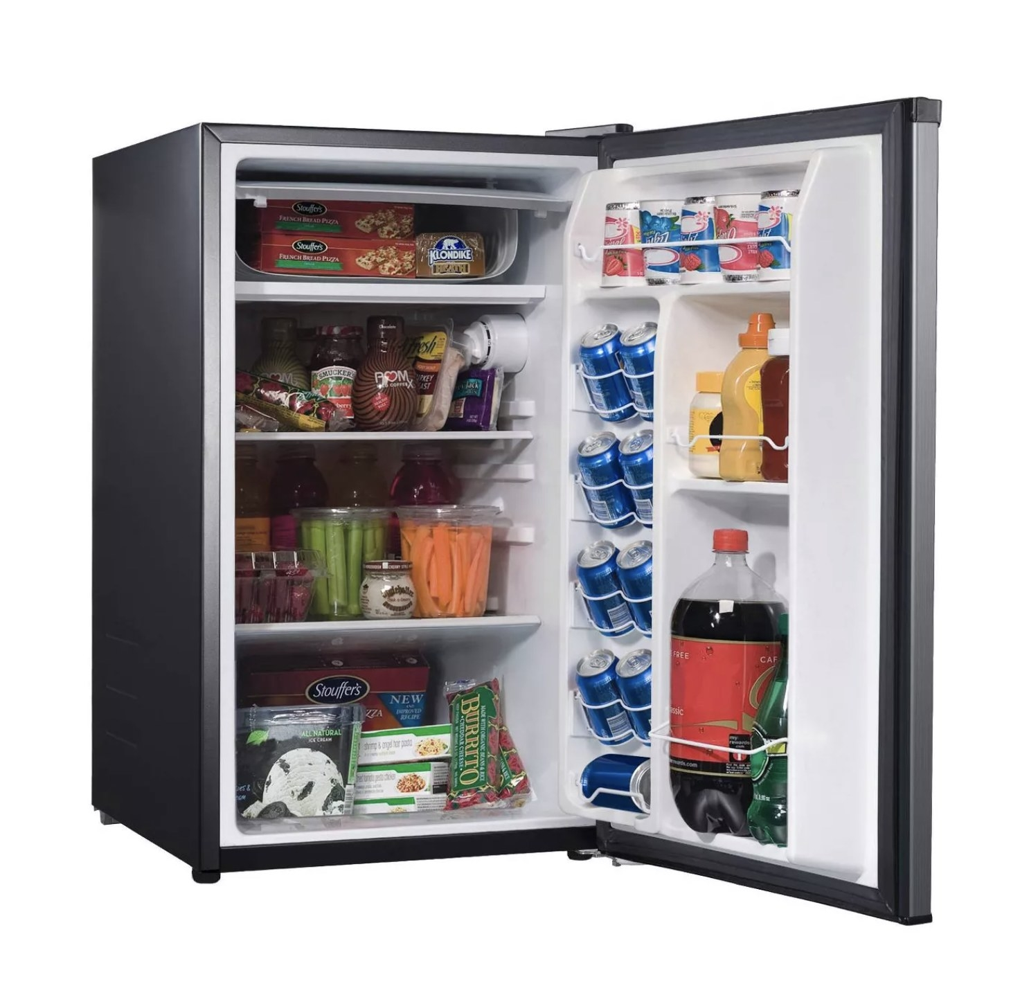 The black mini-fridge