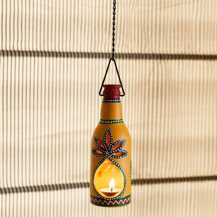 Terracotta tealight holder