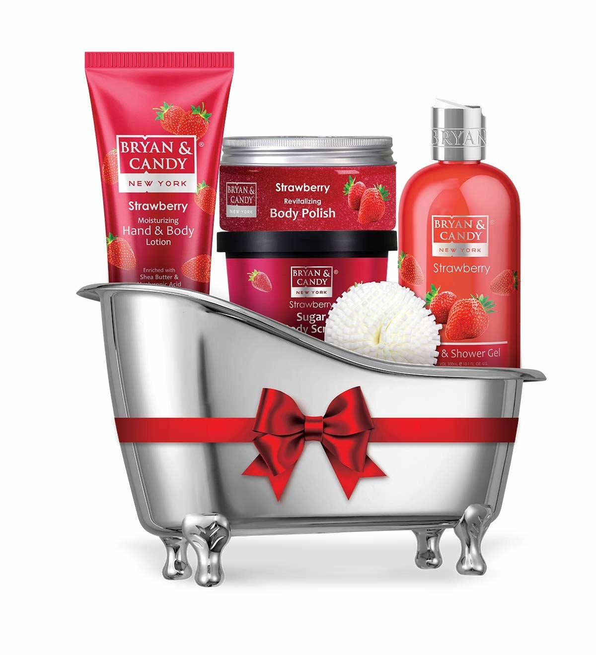 Strawberry bath collection