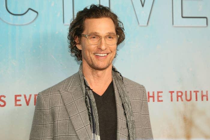"Matthew McConaughey attends the 2019 premiere of HBO's ""True Detective"" Season 3"